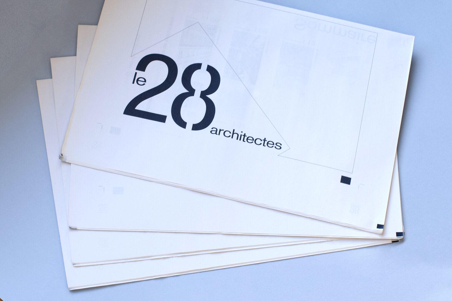Dosier AJAP 2020 Le 28 architectes par FE Consulting - couverture