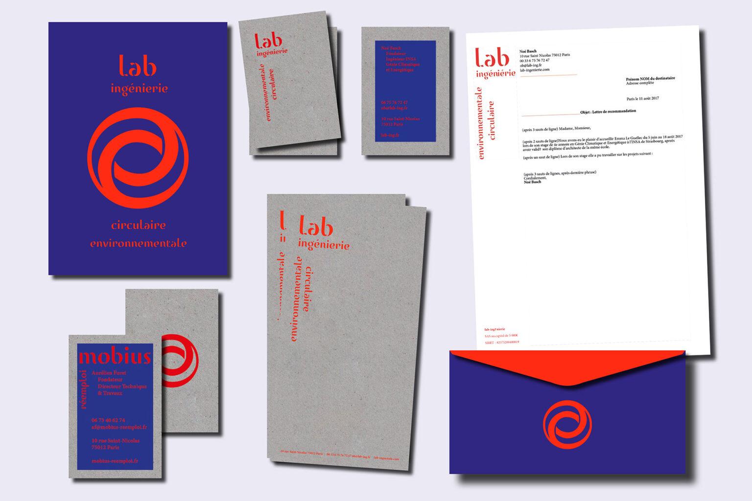 Lab ingénierie - Mobius - Identité visuelle