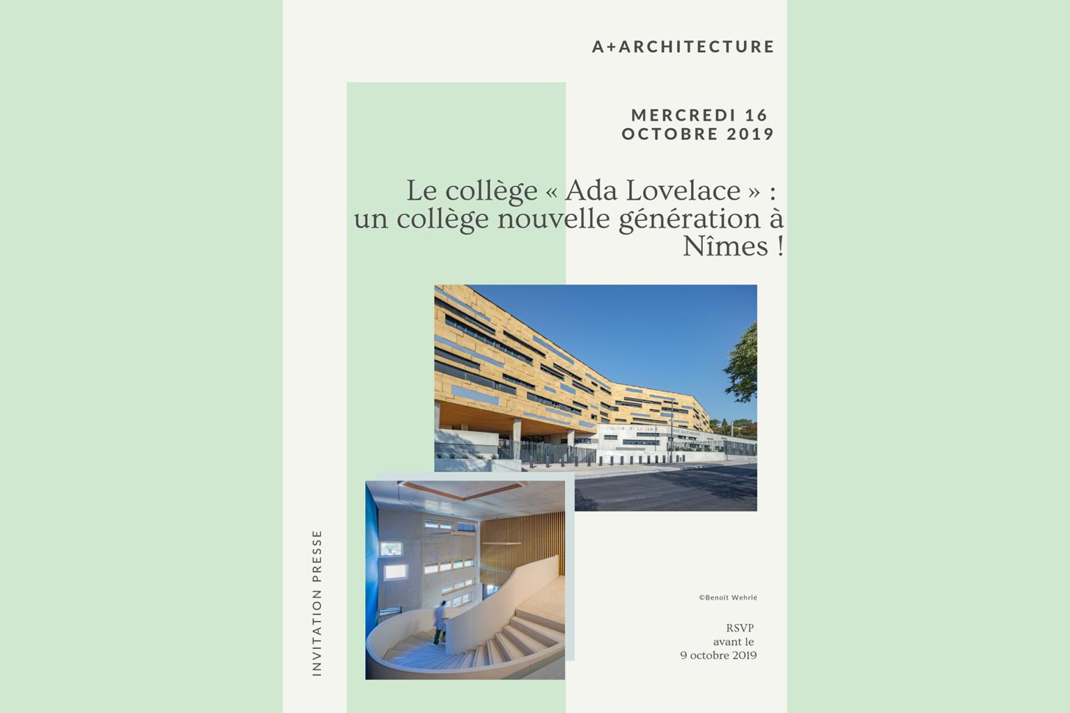 Invitation Voyage de presse A+A Architecture